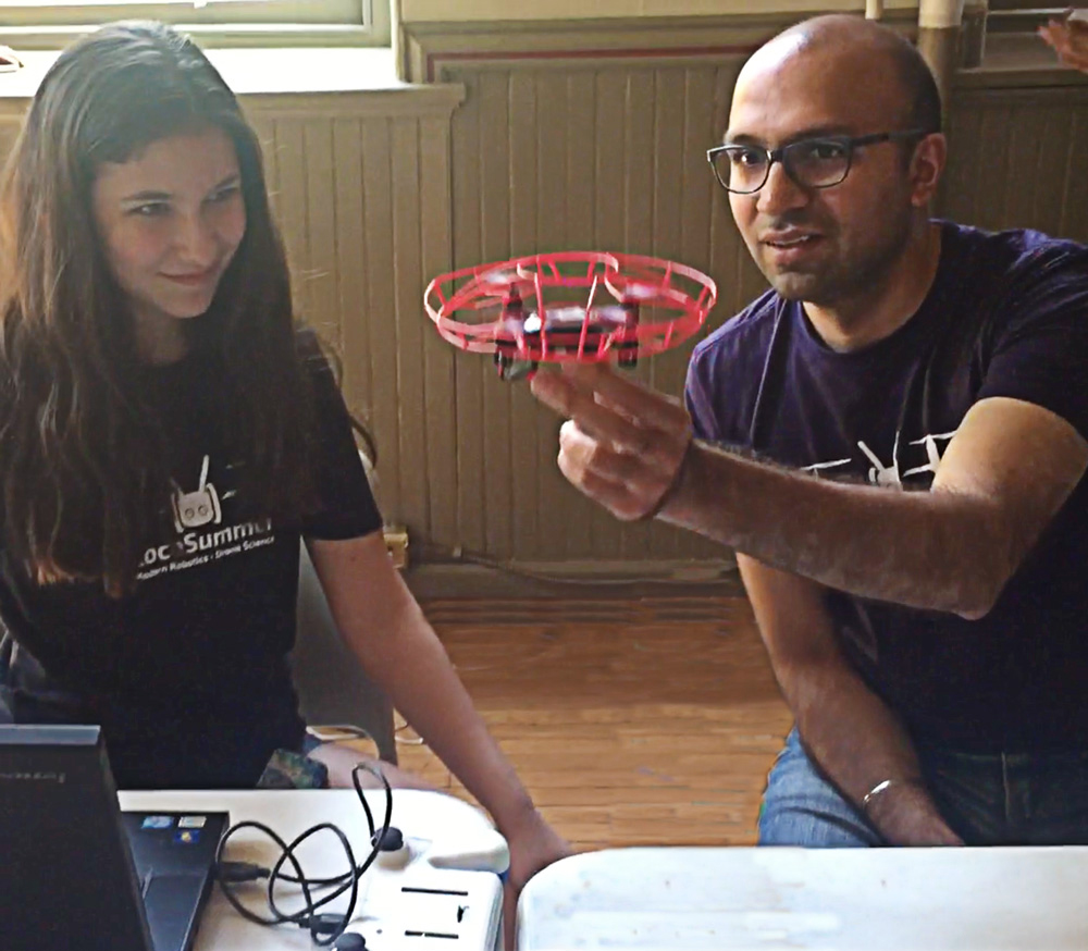 Codable drones challenge at summer camp